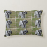 Adorable Black and White English Setter Accent Pillow