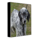 Adorable Black and White English Setter Binder