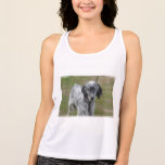 Adorable Black and White English Setter Dog Tank Top