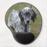 Adorable Black and White English Setter Gel Mouse Pad