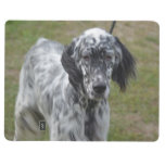 Adorable Black and White English Setter Journal