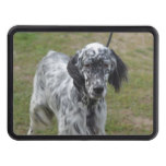Adorable Black and White English Setter Tow Hitch Cover