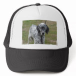 Adorable Black and White English Setter Trucker Hat
