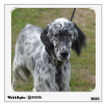 Adorable Black and White English Setter Wall Sticker
