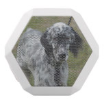 Adorable Black and White English Setter White Bluetooth Speaker