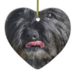 Adorable Cairn Terrier Ceramic Ornament
