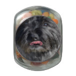 Adorable Cairn Terrier Glass Jar