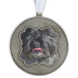Adorable Cairn Terrier Pewter Ornament