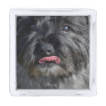 Adorable Cairn Terrier Silver Finish Lapel Pin