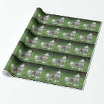 Alert Chinese Crested Dog Wrapping Paper