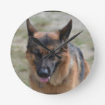 Amazing German Shepherd Round Clock