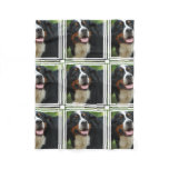Baby  Bernese Mountain Dog Fleece Blanket