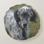 Beautiful English Setter Dog Round Pillow