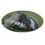 Black and White Puli Dog Cutting Board