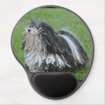 Black and White Puli Dog Gel Mouse Pad