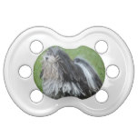 Black and White Puli Dog Pacifier