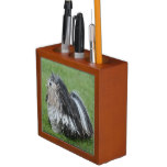Black and White Puli Dog Pencil Holder