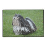 Black and White Puli Dog Placemat