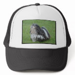Black and White Puli Dog Trucker Hat