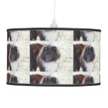 Black and White Sheltie Ceiling Lamp