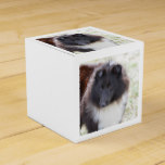 Black and White Sheltie Favor Box
