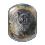 Black Cairn Terrier Glass Candy Jar