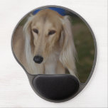 Blonde Saluki Dog Gel Mouse Pad