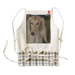 Blonde Saluki Dog Zazzle HEART Apron