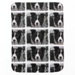 Border Collie Dog Receiving Blanket