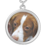 brittany-spaniel-7.jpg silver plated necklace