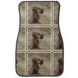 Brown Toy Poodle Car Mat