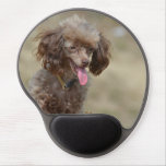 Brown Toy Poodle Gel Mouse Pad