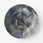 Cairn Terrier Face Round Clock