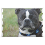 Classic Boston Terrier Dog Cloth Placemat
