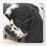cocker-spaniel-5.jpg square wall clock