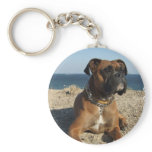 Cute Boxer Dog Keychain