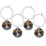 Cute Brittany Spaniel Wine Glass Charm