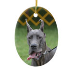 Cute Great Dane Ceramic Ornament