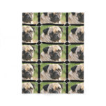 Cute Pug Fleece Blanket