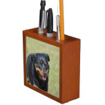 Cute Rottie Desk Organizer