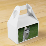 Cute Siberian Husky Favor Box