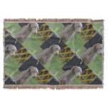 Cute Weimaraner Dog Throw Blanket