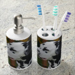 Dalmatian with Spots Bathroom Set