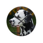 Dalmatian with Spots Round Clock