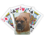 Drooling Bordeaux Mastiff Bicycle Playing Cards