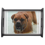 Drooling Bordeaux Mastiff Serving Tray