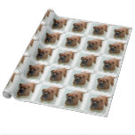 Drooling Bordeaux Mastiff Wrapping Paper