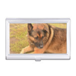 German Shepherd with One Floppy Ear Case For Business Cards