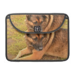German Shepherd with One Floppy Ear MacBook Pro Sleeve