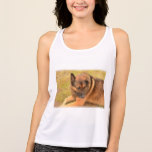German Shepherd with One Floppy Ear Tank Top